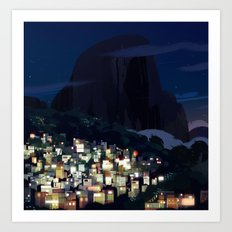 Rocinha Night Art Print
