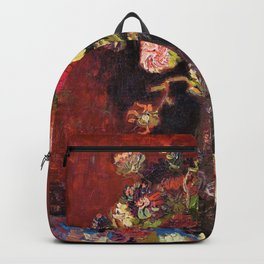 Vincent van Gogh - Vase With Chinese Asters And Gladioli - Digital Remastered Edition Backpack