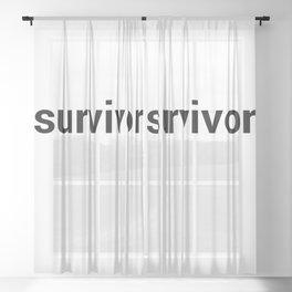 survivor Sheer Curtain