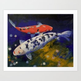 Bekko Koi Fish Art Print