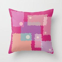 Wiggled Squario Throw Pillow