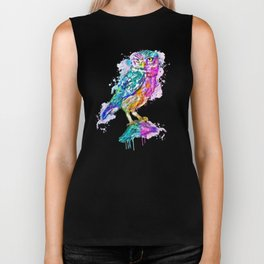 Colorful Owl Biker Tank