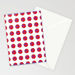 flag of norway 13 – polka dot version Stationery Cards
