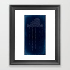 Cloud in Blue Framed Art Print