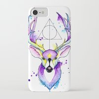 harry potter iPhone & iPod Cases featuring Harry Potter Patronus by Simona Borstnar
