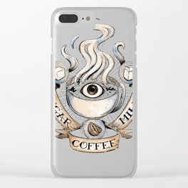 The Holy Trinity of Caffeine Clear iPhone Case