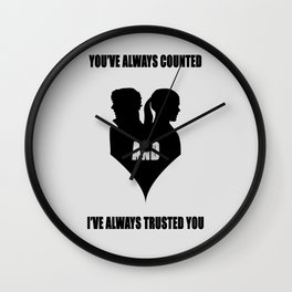 You've always counted and I've always trusted you Wall Clock