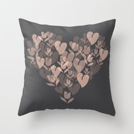 Love and Tulips Throw Pillow