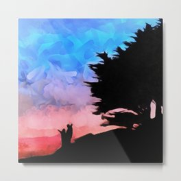 Bembridge Sunset Metal Print