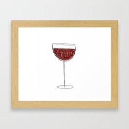 Wine Gladiator Framed Art Print