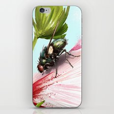 Fly on a flower 15 iPhone & iPod Skin