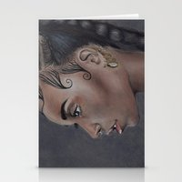 fka twigs Stationery Cards featuring FKA Twigs by annelise johnson