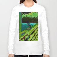 matisse Long Sleeve T-shirts featuring Heron Matisse by Ellen Turner