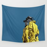 jesse pinkman Wall Tapestries featuring Breaking Bad: Walt and Jesse by George Hatzis