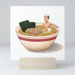 Ramen Bath Mini Art Print