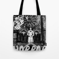 horror Tote Bags featuring Horror by alexflasher