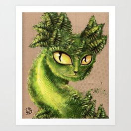 Fern Cat 2013 Art Print