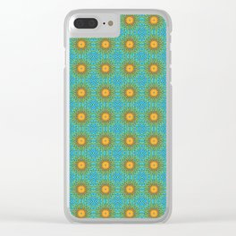Yellow Salsify Flower Pattern Clear iPhone Case