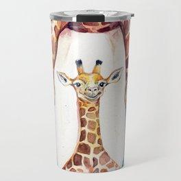 Gorgeous Giraffes (Rain) Travel Mug