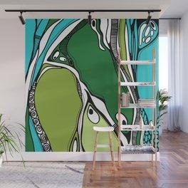 Green dive plongeon vers Wall Mural
