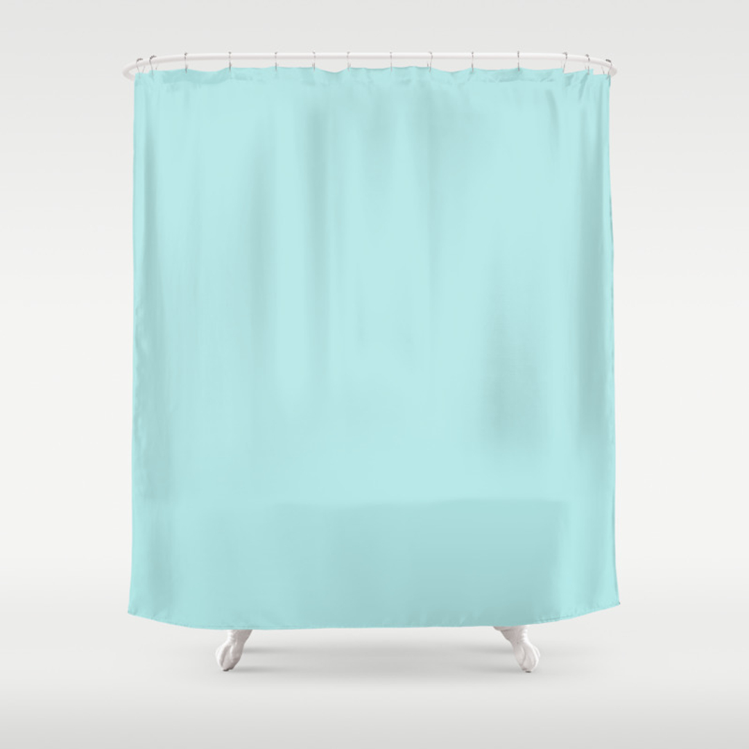 Solid teal shower curtain - Solid Teal Shower Curtain 36