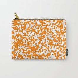 Small Spots - White and Orange Carry-All Pouch