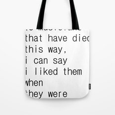 underground music Tote Bag