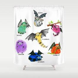 Seven Books, Seven Iggys Shower Curtain