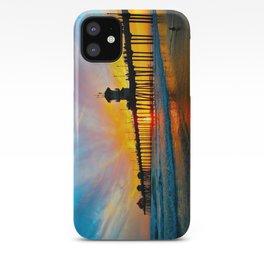 Sunset Huntington Beach Pier   iPhone Case