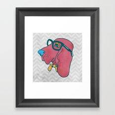 Rufus the Intelligent Geek Hound Framed Art Print