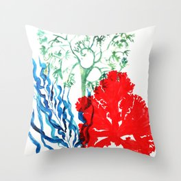 Corals underwater, coral reef Throw Pillow