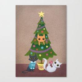 Meowy Christmas Canvas Print