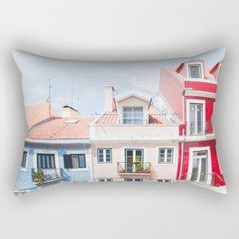 Colorful Buildings Rectangular Pillow