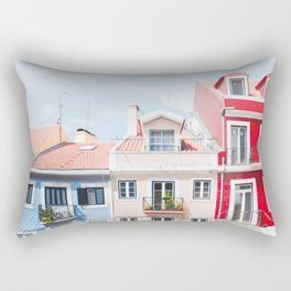 Colorful Buildings Rectangular Pillow