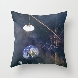 Earth hour Throw Pillow