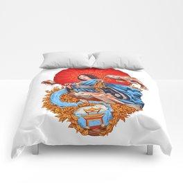 a koi dream Comforters