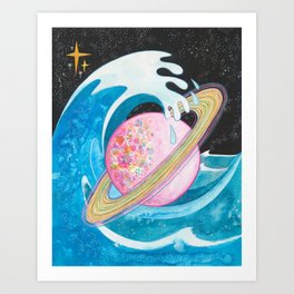 New wave Art Print
