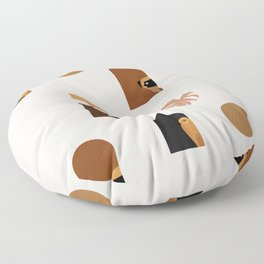 Hide and Seek Pug Abstract Floor Pillow