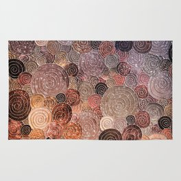 Abstract brown glamour glitter circles and dots for Girls and ladies Rug