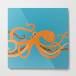 Octopus Swirl Metal Print