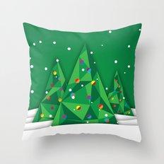 Vector Christmas Tree Throw Pillow