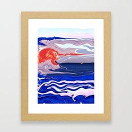Seascape. Framed Art Print