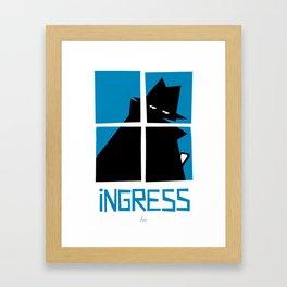 Ingress (Resistance) Framed Art Print