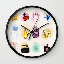 Eau de pattern Wall Clock