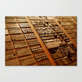 Art in Letterpress Canvas Print