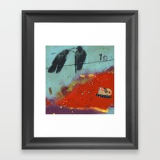 19 Framed Art Print