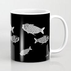 Koi Black Coffee Mug