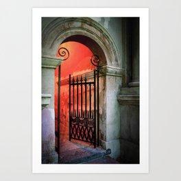 Porters Lodge Gate 1 Art Print
