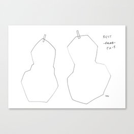 The Best Pair - fruit illustration humor quote Canvas Print