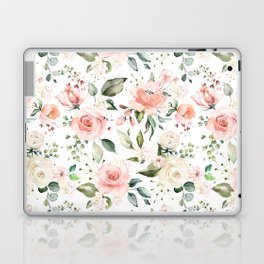 Sunny Floral Pastel Pink Watercolor Flower Pattern Laptop & iPad Skin